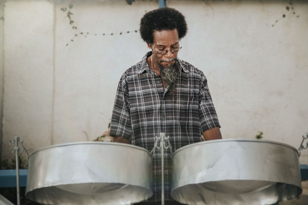 calypso steel drum player
