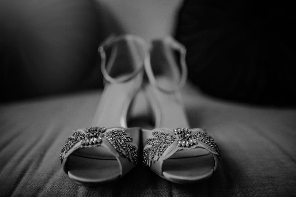 Brides Shoes, covered in jewels