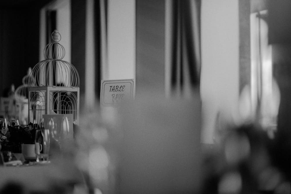 The wedding breakfast tables at the Midland Hotel in Morecambe