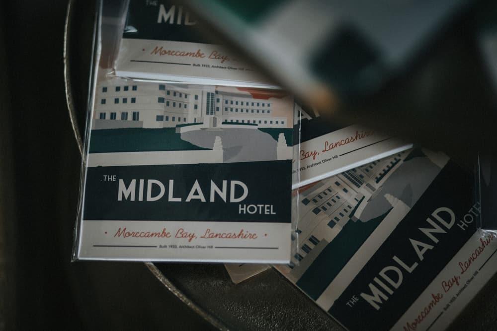 The Midland Hotel art deco postcards