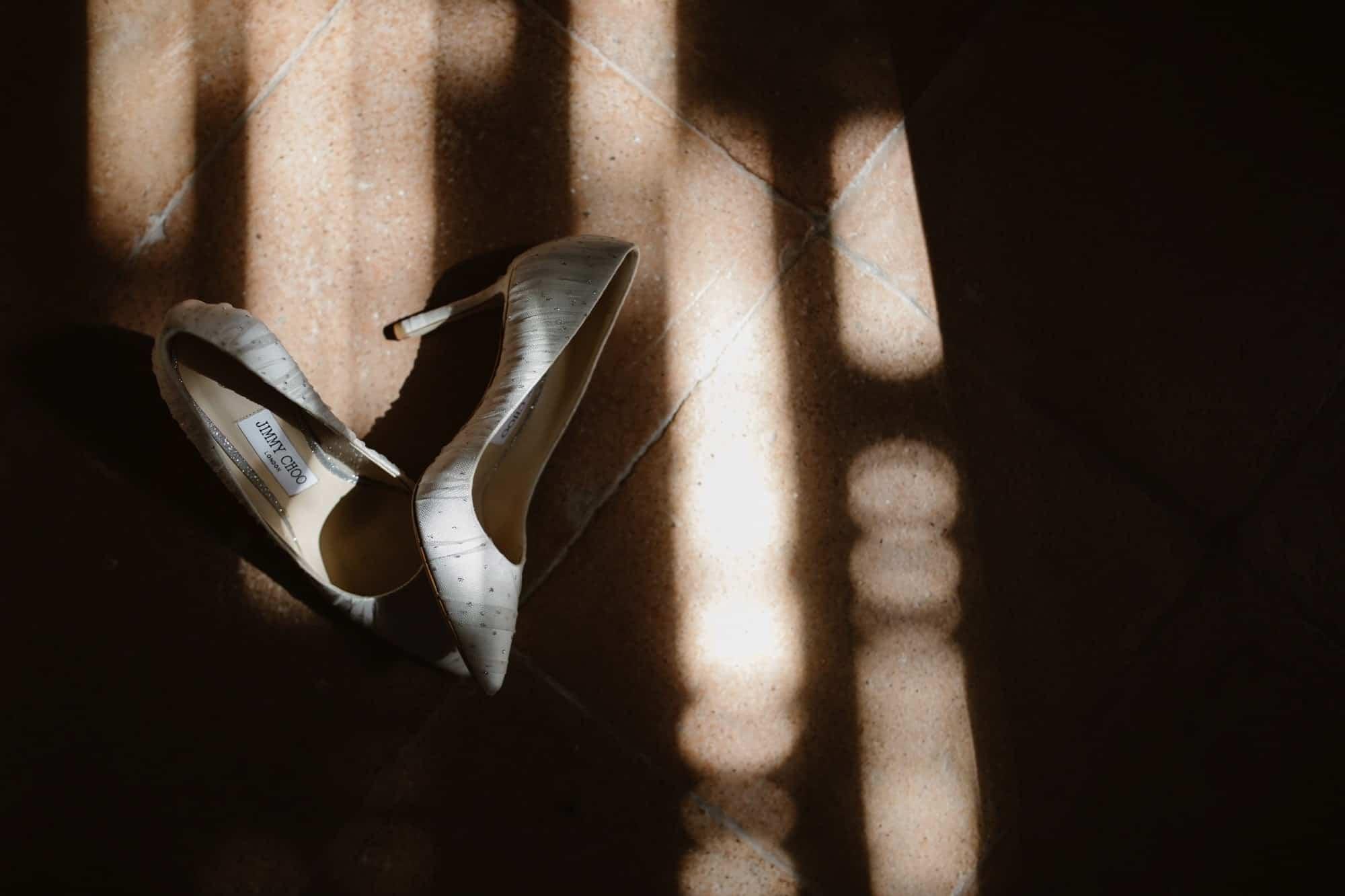 pair of Jimmy Choo Wedding Shoes