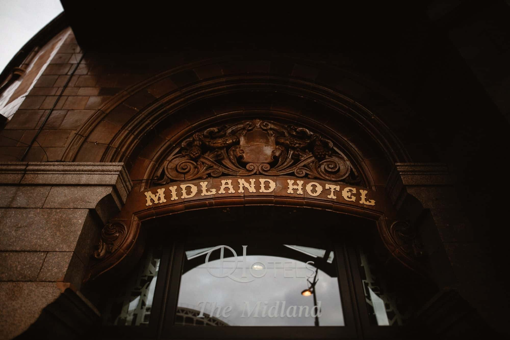 Outside the Midland Hotel Manchester