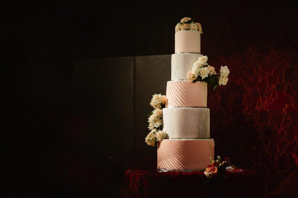 5 tier pastel wedding cake