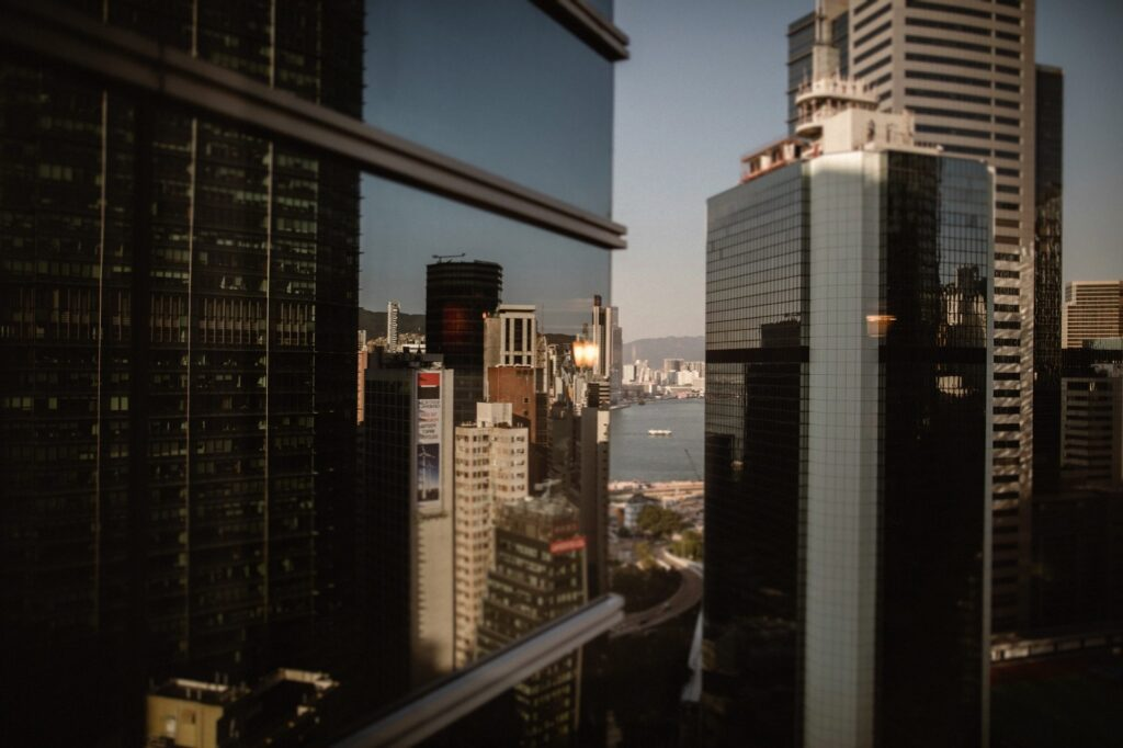 View from the JW Marriot Hotel in Pacific Place, Hong Kong